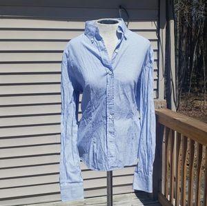Vintage Burberrys Striped Button Up Shirt